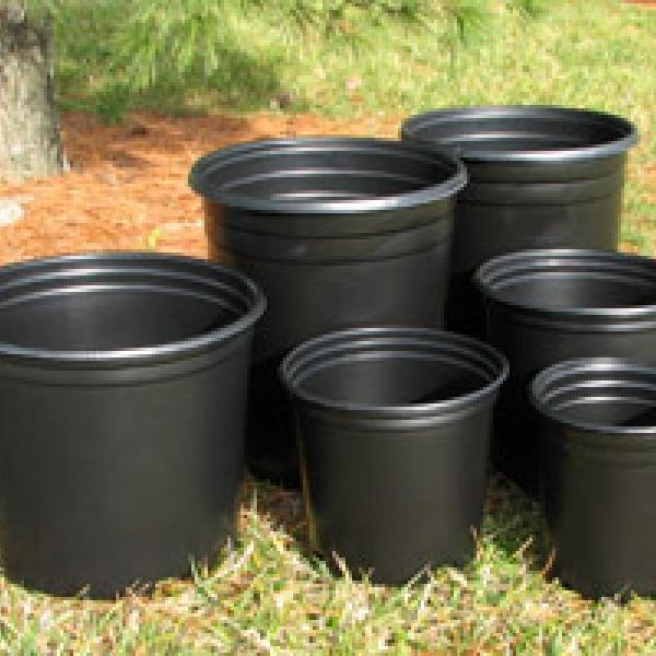 Automation ready, pressure formed black or colored plastic nursery pots